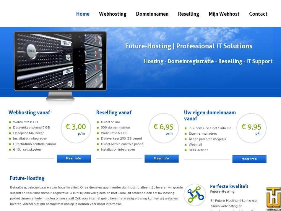 future-hosting.nl Screenshot