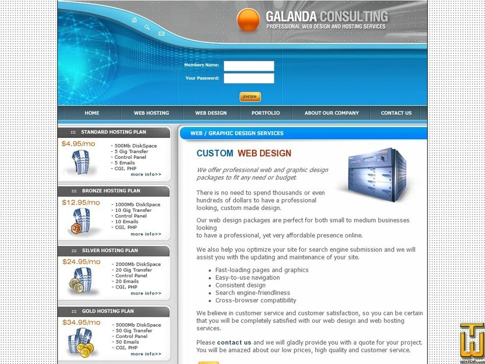 galanda.com Screenshot
