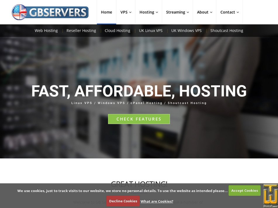 gbservers.co.uk Screenshot