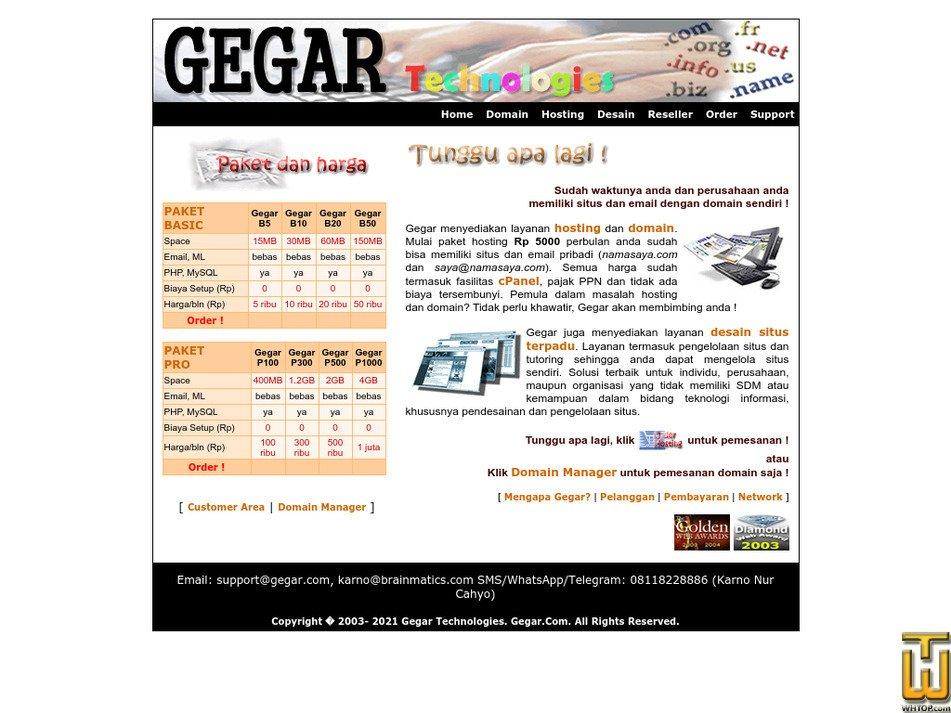 gegar.com Screenshot