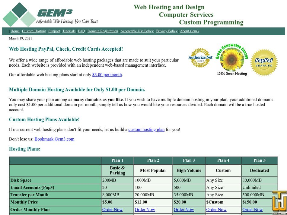 gem3.com Screenshot