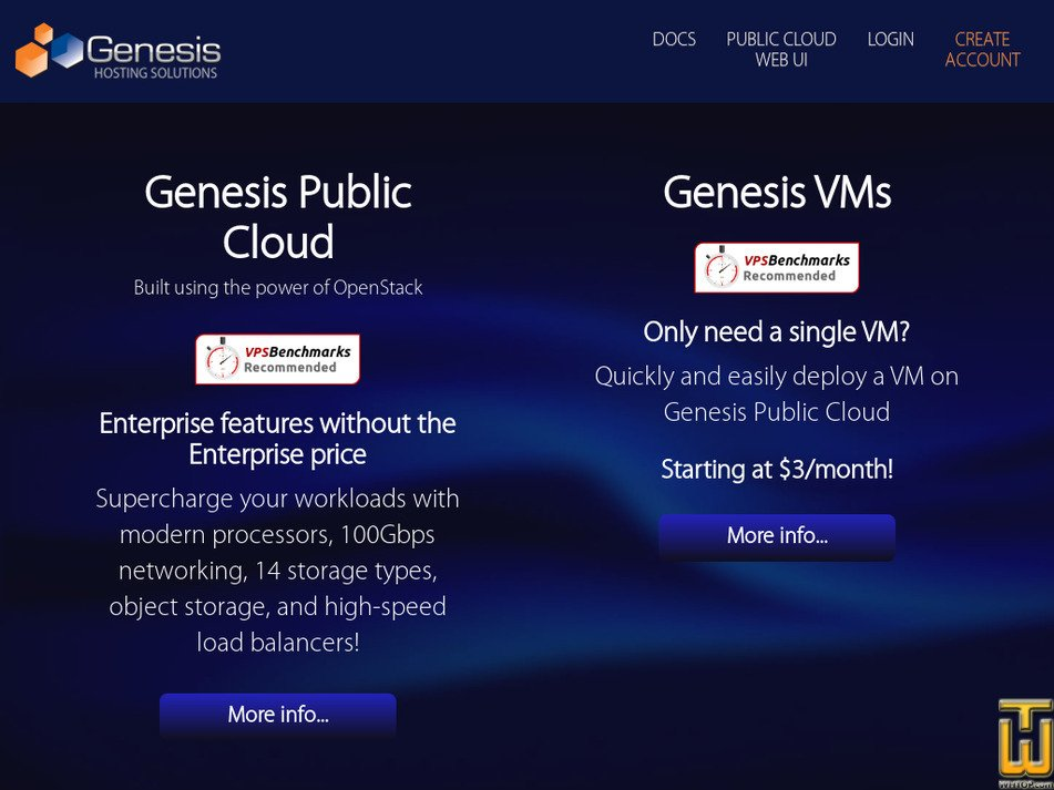 genesishosting.com Screenshot
