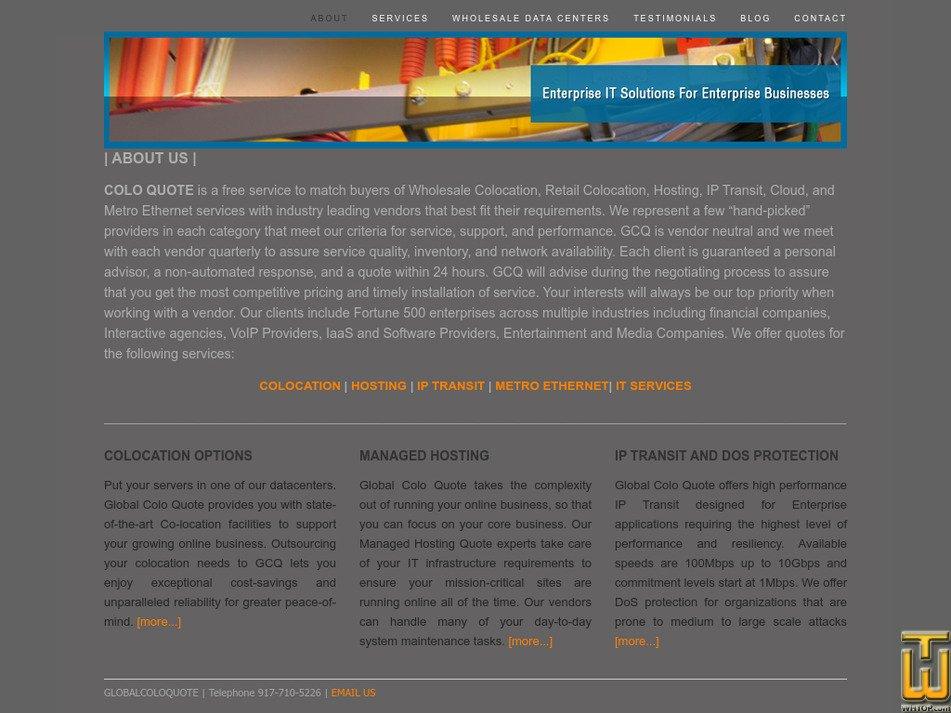 globalcoloquote.com Screenshot