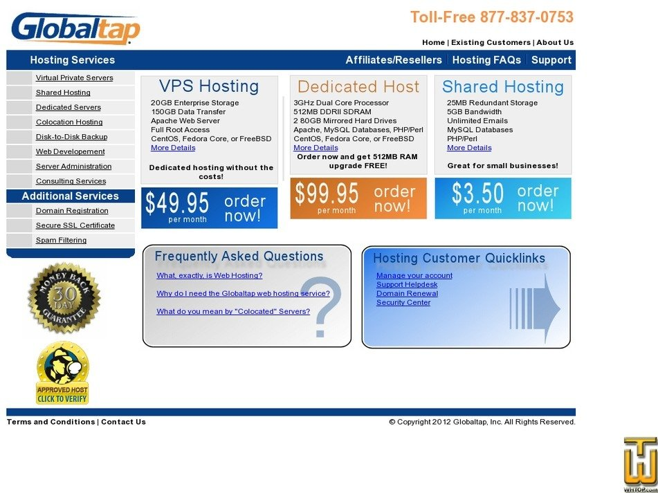 globaltap.com Screenshot