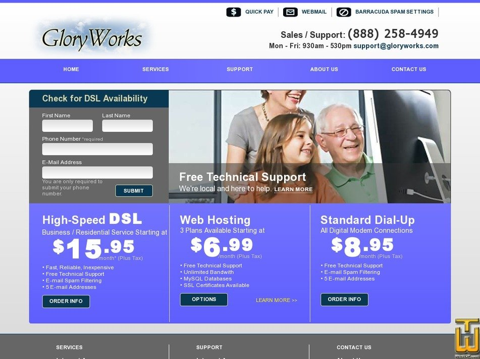 gloryworks.com Screenshot