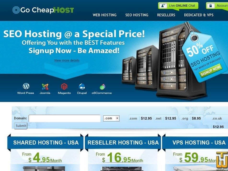 gocheaphost.com Screenshot