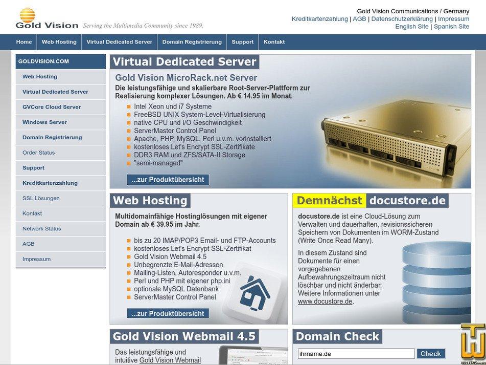 goldvision.com Screenshot