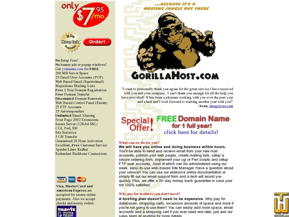 gorillahost.com Screenshot