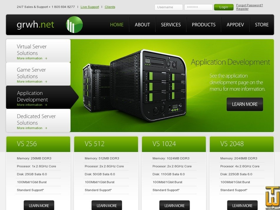 greenriverwebhosts.com Screenshot