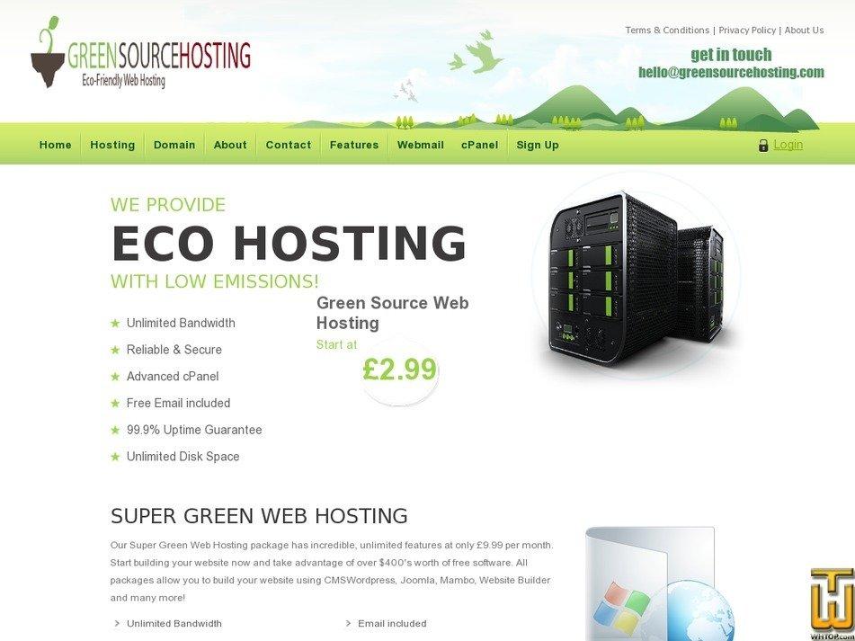 greensourcehosting.com Screenshot
