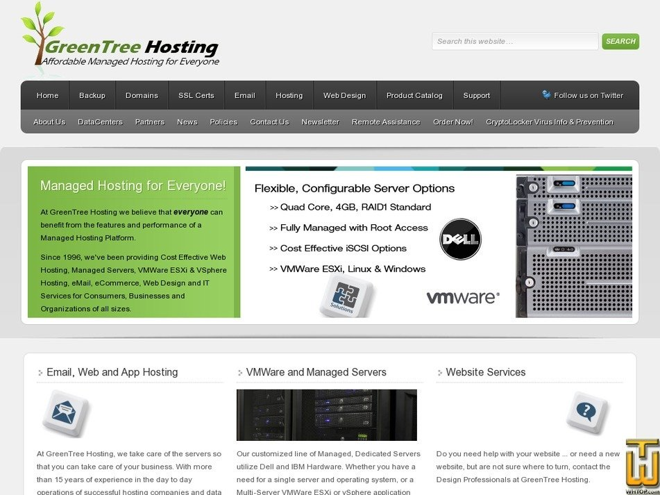 greentreehosting.com Screenshot