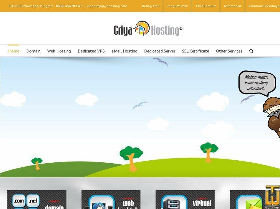 griyahosting.com Screenshot
