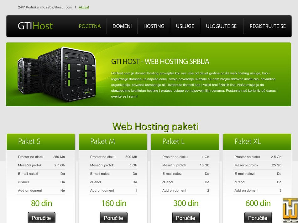 gtihost.com Screenshot