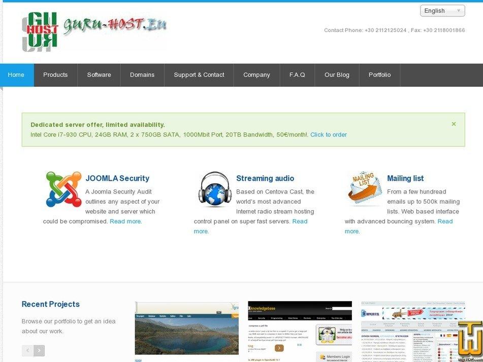 guru-host.eu Screenshot