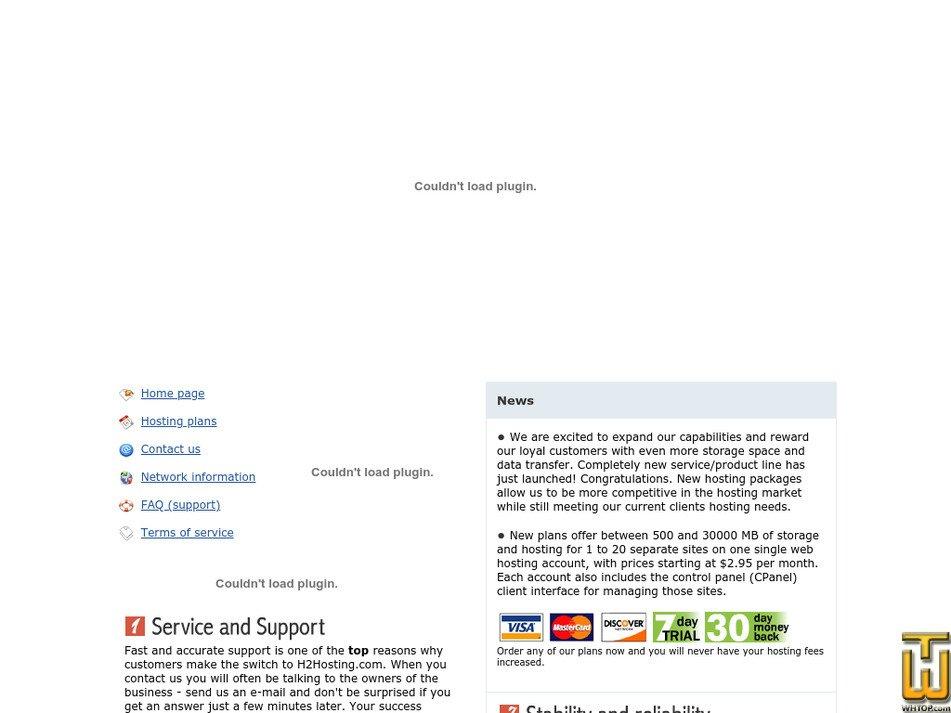 h2hosting.com Screenshot