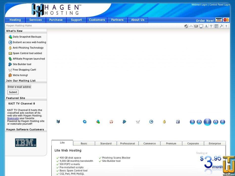 hagenhosting.com Screenshot