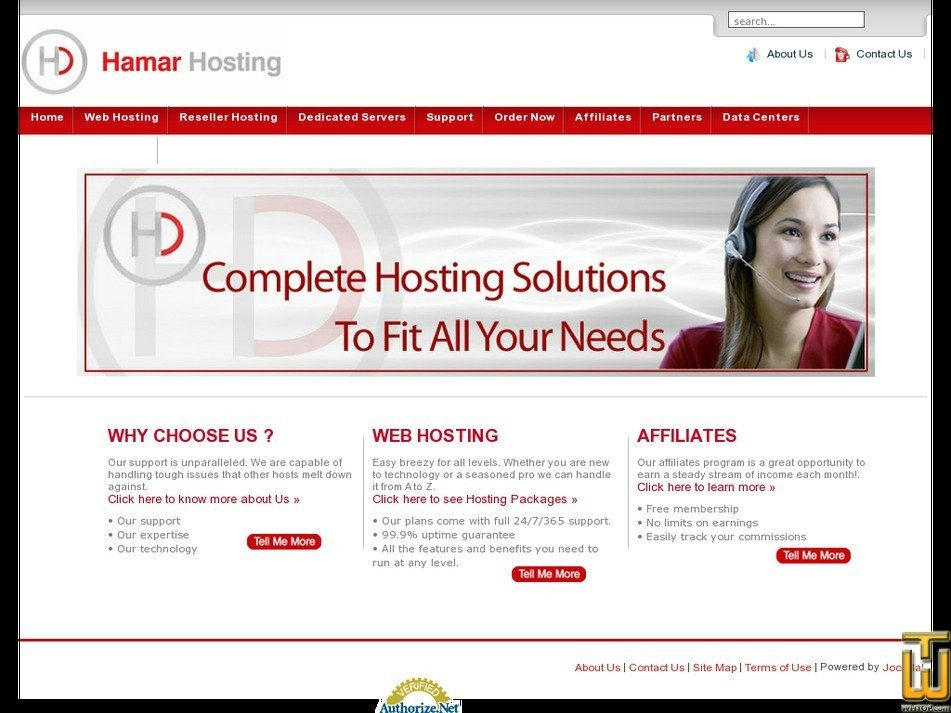 hamarhosting.com Screenshot