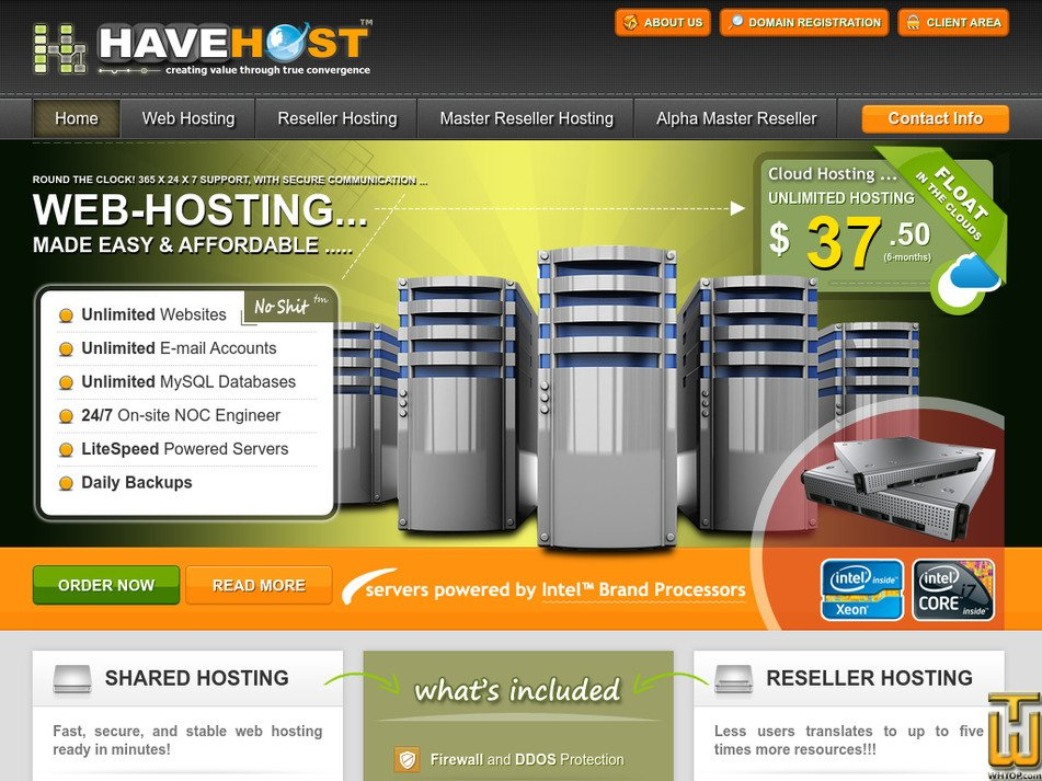 havehost.com Screenshot