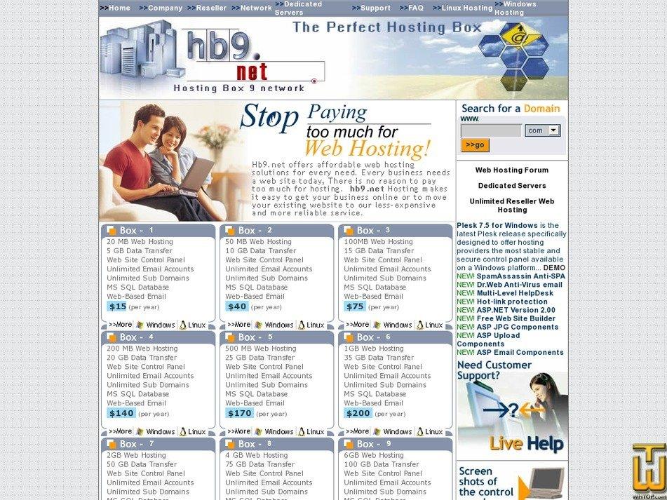 hb9.net Screenshot