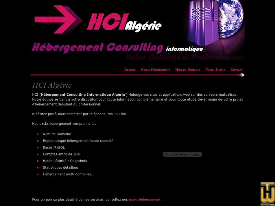 hci-algerie.net Screenshot