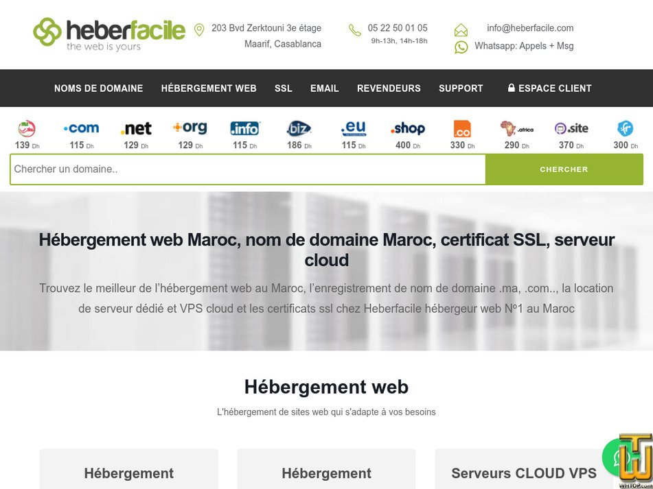 heberfacile.com Screenshot
