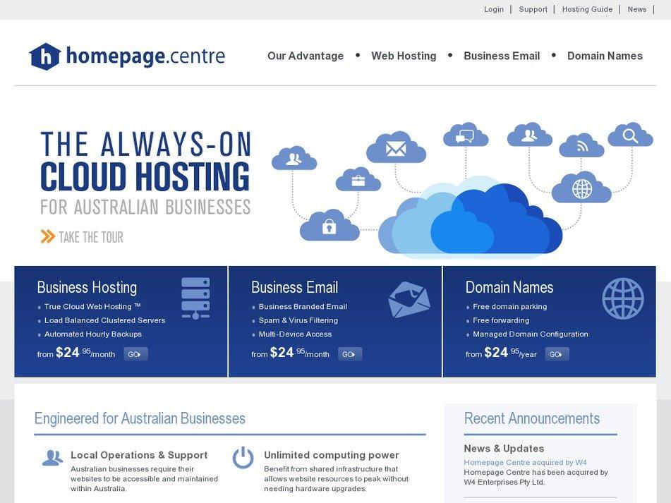homepagecentre.com Screenshot