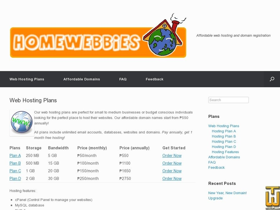 homewebbies.com Screenshot