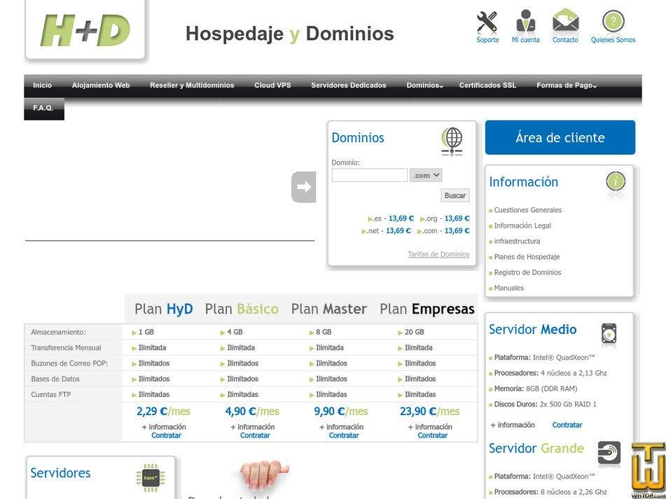 hospedajeydominios.com Screenshot