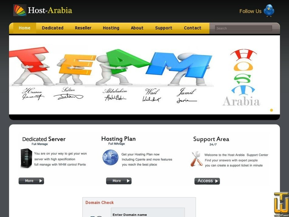 host-arabia.com Screenshot