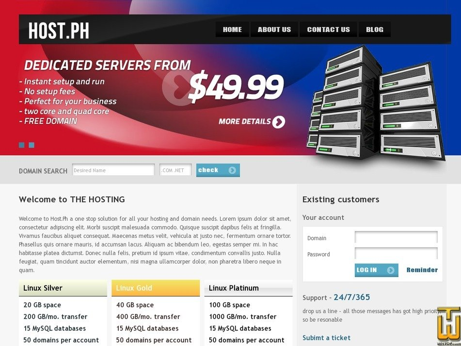 host.ph Screenshot