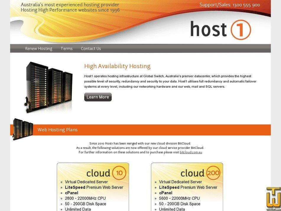 host1.com.au Screenshot