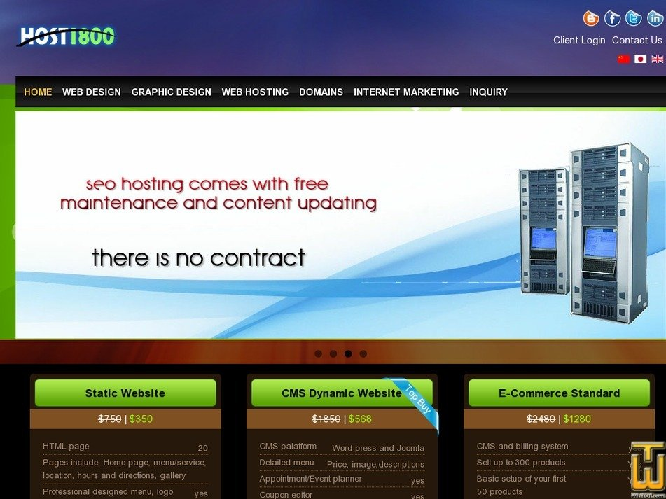 host1800.com Screenshot