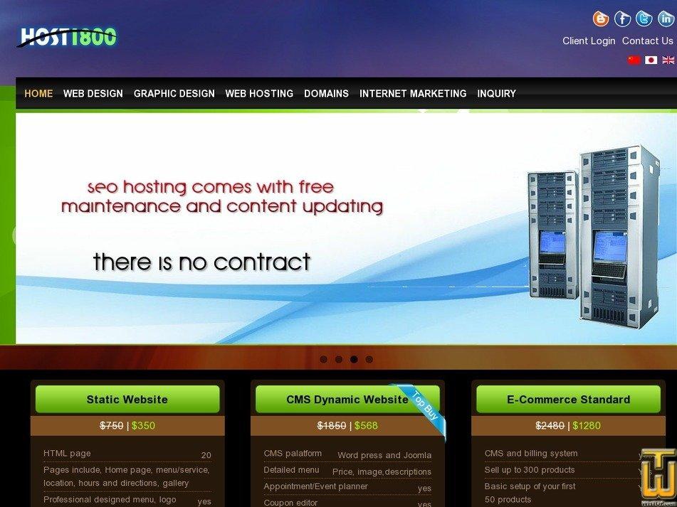 host1800.com Screenshot