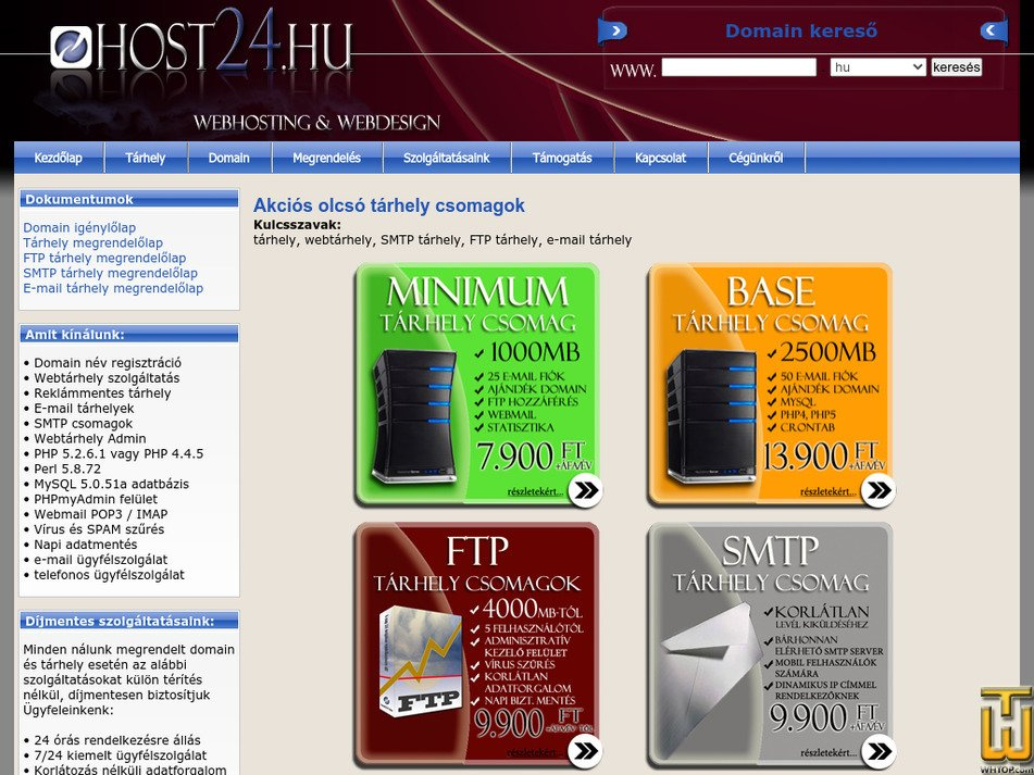host24.hu Screenshot