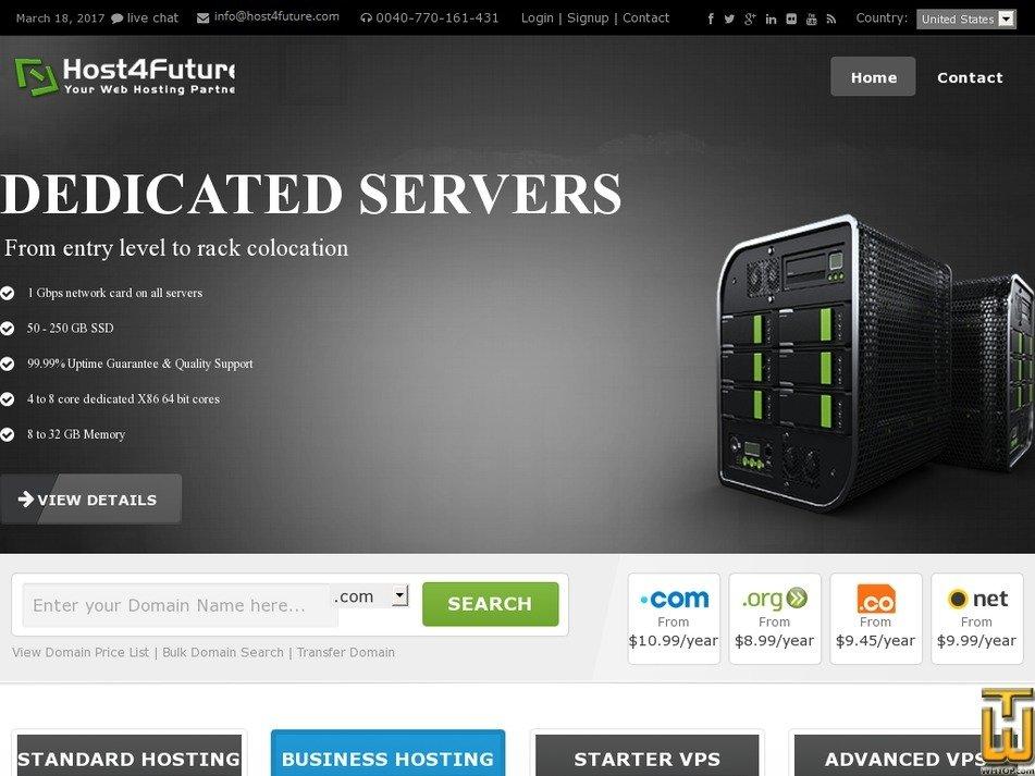 host4future.com Screenshot