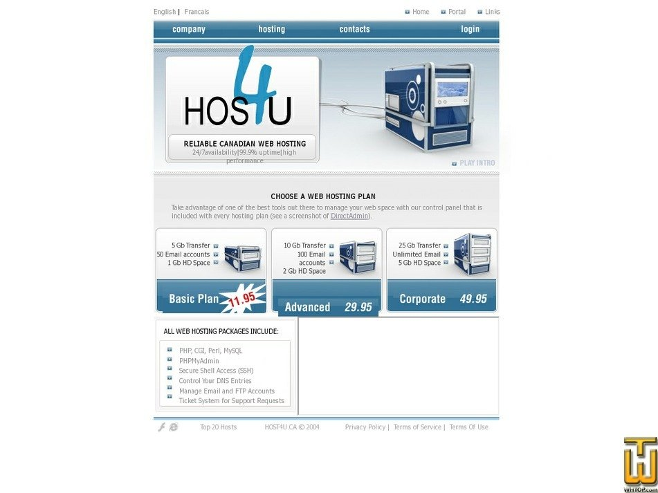 host4u.ca Screenshot
