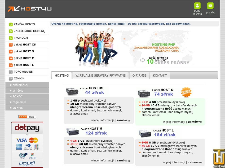 host4u.pl Screenshot