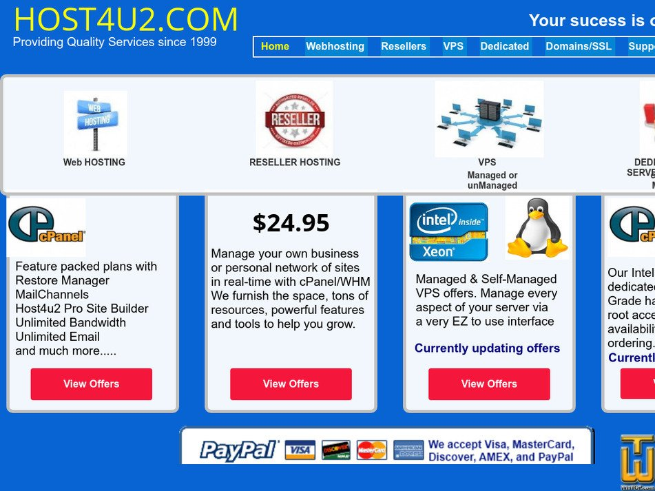 host4u2.com Screenshot