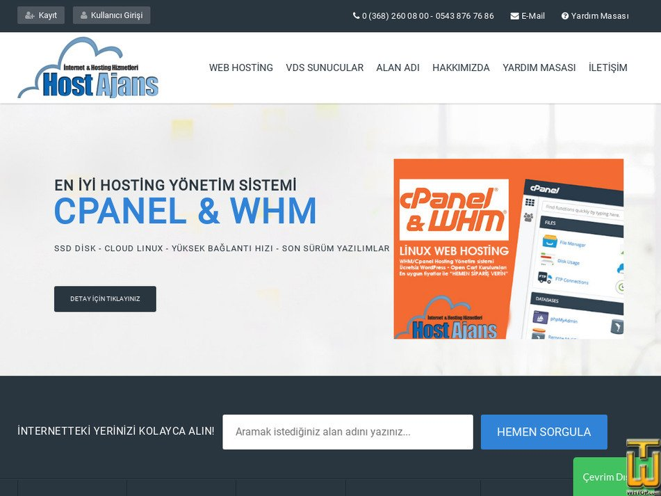 hostajans.com Screenshot