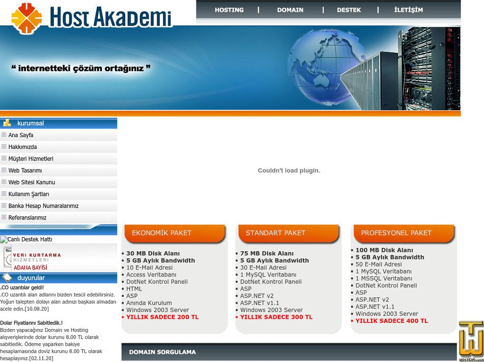 hostakademi.com Screenshot