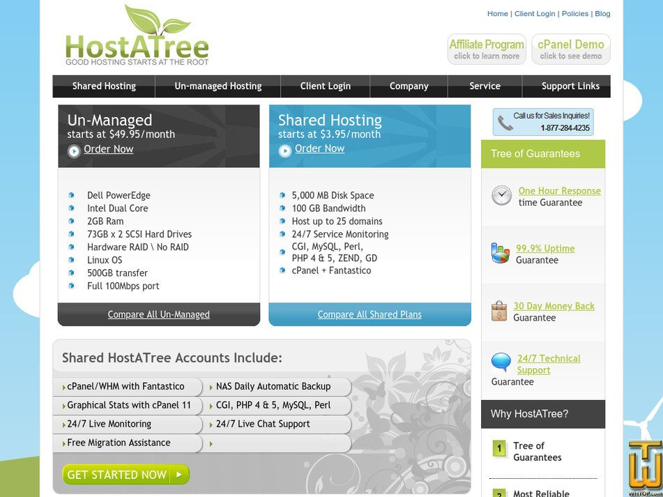 hostatree.com Screenshot