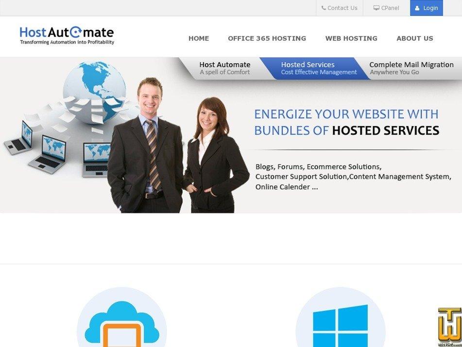 hostautomate.com Screenshot