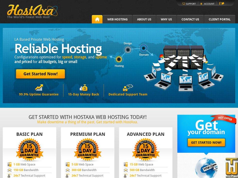 hostaxa.com Screenshot