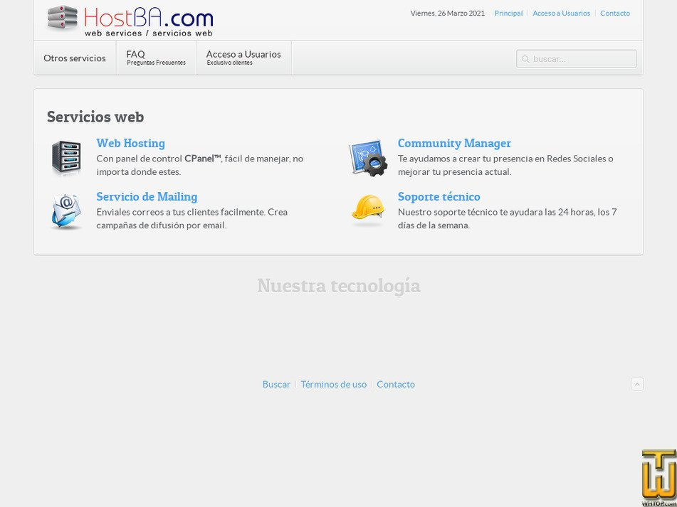 hostba.com Screenshot