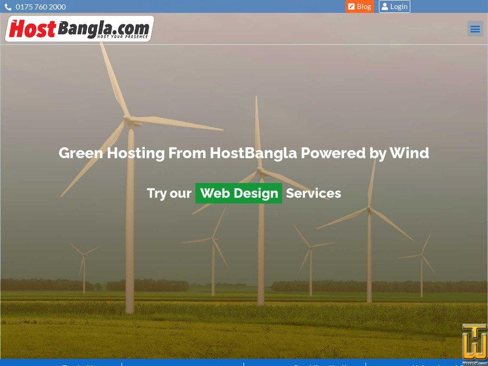 hostbangla.com Screenshot