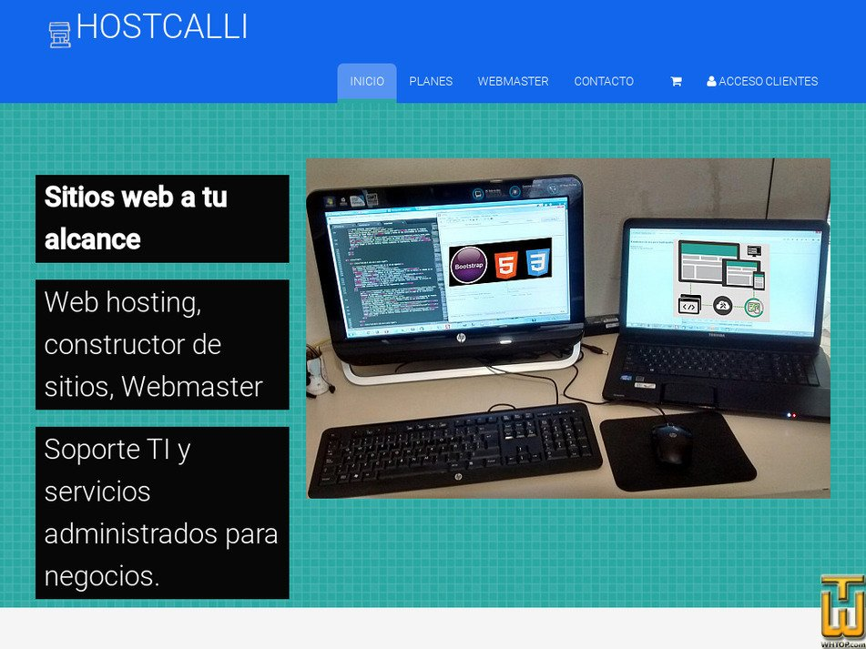 hostcalli.com Screenshot