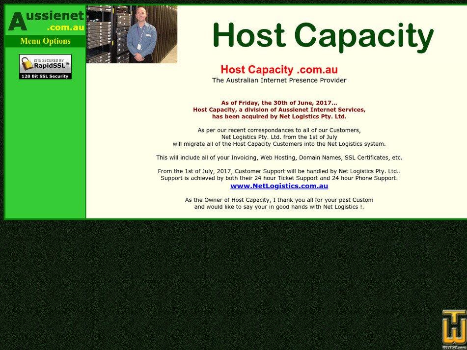 hostcapacity.com.au Screenshot