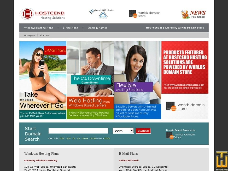 hostcend.com Screenshot