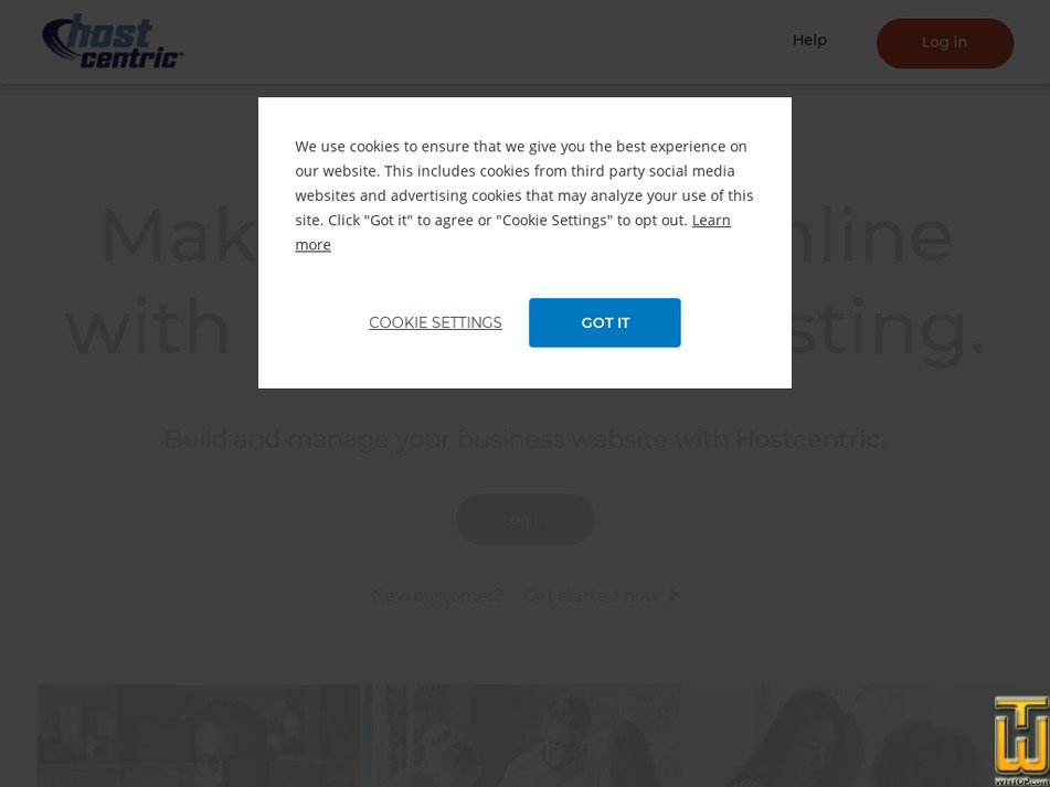 hostcentric.com Screenshot