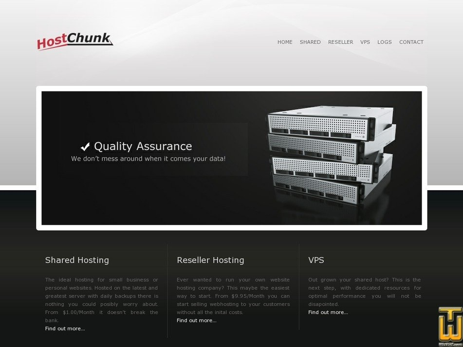 hostchunk.com Screenshot